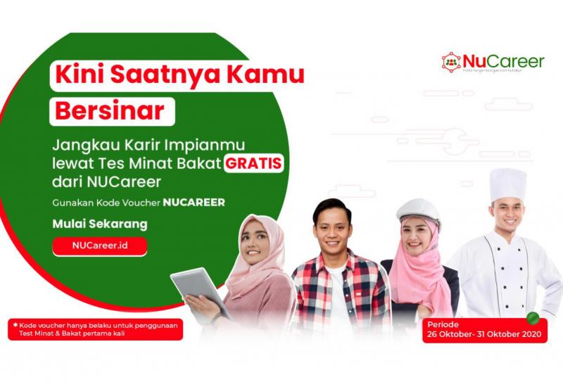 Program Tes Minat & Bakat GRATIS dari NUCareer Spesial untuk Para Nahdliyin