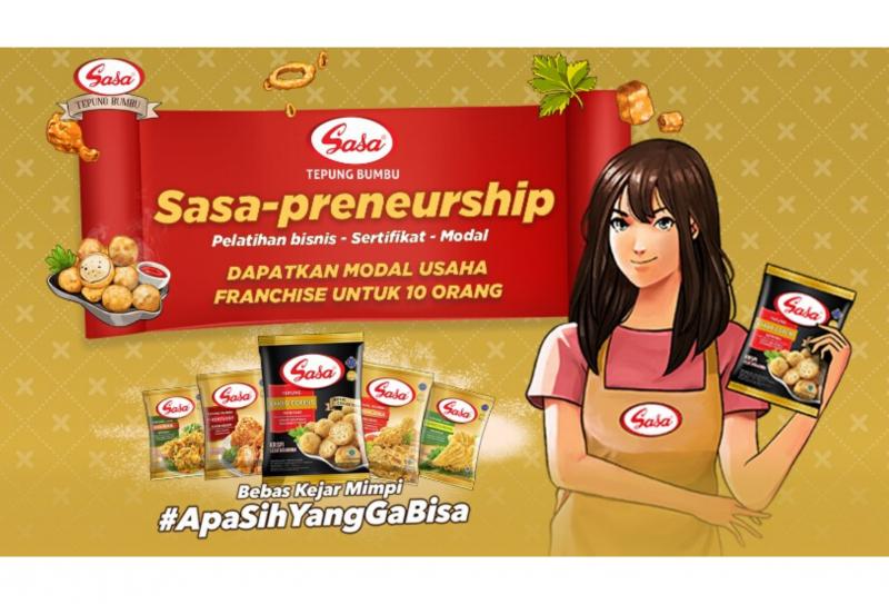 Membangun Bisnis Kuliner Bersama Sasa-Preneurship : Pelatihan Bisnis, Sertifikat dan Modal