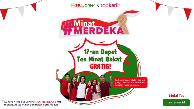 #MinatMerdeka Program Tes Minat dan Bakat Gratis dari NUCareer
