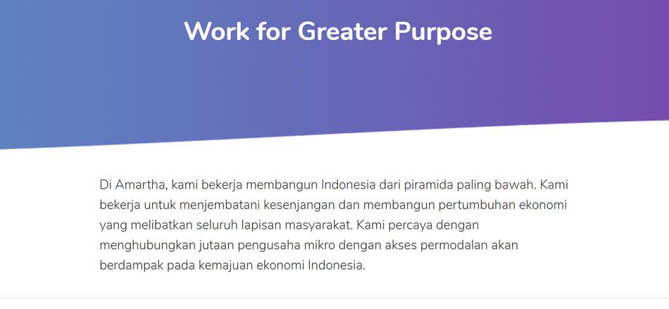 Lowongan Kerja PT. AMARTHA MIKRO FINTEK | TopKarir.com