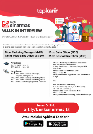 Walk In Interview Bank Sinarmas