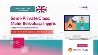Semi-Private Class: Mahir Berbahasa Inggris